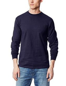 MJ Soffe Men's Long-Sleeve Cotton T-Shirt, Navy, X-Large