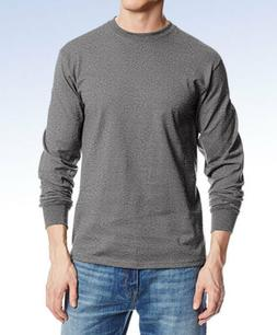 MJ SOFFE Men's Long-Sleeve Midweight Cotton T-Shirt M375 - C