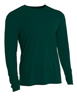 A4 N3165 Adult Cooling Performance Long-Sleeve Tee - Maroon,