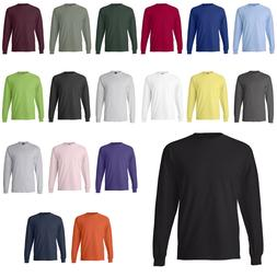 Hanes NEW 100% Cotton Long Sleeve Beefy-T T-Shirt 5186 Mens
