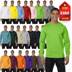 NEW Hanes 6.1 oz 100% Cotton Long-Sleeve Beefy-T S-3XL T-Shi