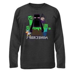 NEW Minecraft Big Boy Endermen Gray Long Sleeve Tee Shirt To