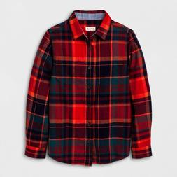 new boys long sleeve button down flannel