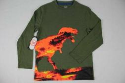 NEW Boys Medium Size 8 Dinosaur T Shirt T Rex Top Long Sleev