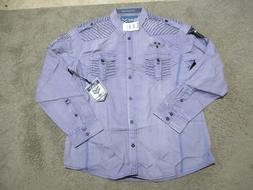 NEW Roar Button Up Shirt Adult Extra Large Purple Club Wear
