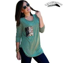 New Simple Casual Long Sleeve T shirts For Women Autumn Fall