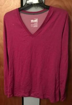 NEW Nike Dri-Fit Womens XLARGE Slim Fit Long Sleeve V-Neck T
