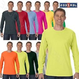 NEW Jerzees Heavy 5.6 oz Dri-Power 50/50 Mens Long Sleeve S-