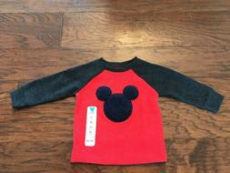 NEW Jumping Beans  Infant Boy Mickey Mouse Long Sleeve Shirt