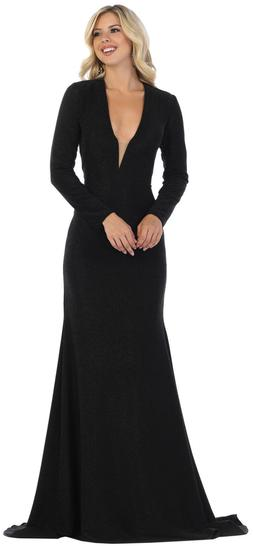 NEW LONG SLEEVE DESIGNER DRESS SEXY RED CARPET EVENING FORMA