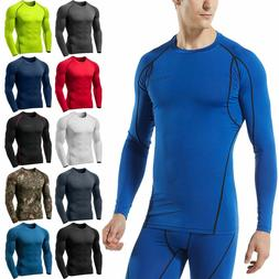NEW Tesla Men's Long Sleeve T-Shirt Cool Dry Compression Top