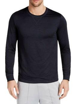 New Mens 32 Degrees Stay Cool Navy Crew Neck Long Sleeve T S