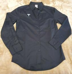 NEW Official Tesla Long Sleeve Button Down Shirt Mens SMALL