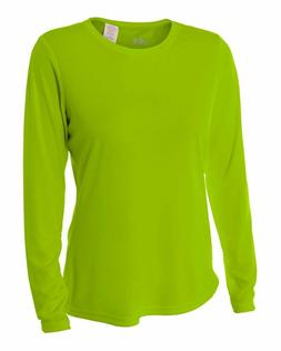 NEW A4 Women's Cooling Performance Crew Long Sleeve T-Shirt,