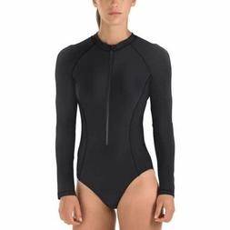*NEW* Speedo Women's Long Sleeve Power Flex Eco One Piece Zi