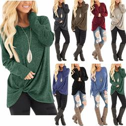 New Womens Tunic Tops Long Sleeve Casual Loose Tops Blouse F