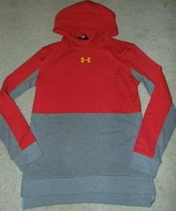 ~NWT Boys UNDER ARMOUR Long Sleeve Hoodie Shirt! Size YLG Lo