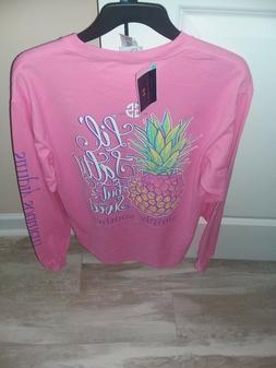 NWT Simply Southern Long Sleeve T Shirt Women's Pineapple