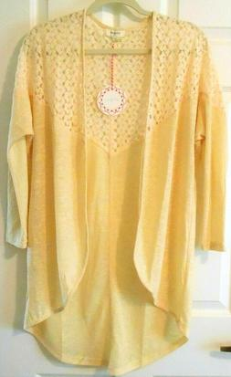 NWT Umgee Women's S/M Open Front Cardigan Sweater with Croch