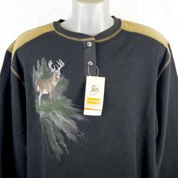 NWT Legendary Whitetails XL Commando Henley Long Sleeve Ther