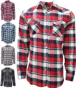 Plaid, Flannel Shirt for Men, Long Sleeve, Western Style wit