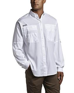 Columbia Men's Plus Tamiami II Long Sleeve Shirt, White - Me