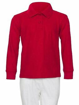 Polo Shirt Boys Long Sleeve Pique By AKA