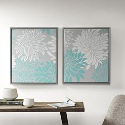 Comfort Spaces - Printed Canvas Set with Frame - 2 Pieces, 2