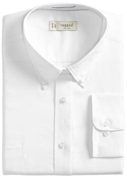 Haggar Men's Regular Fit Pinpoint Oxford Solid Long Sleeve D