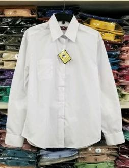 S M L XL 2XL 3XL 4XL White Dress Shirt Mens Button Regular F