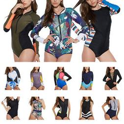 Sexy Surfing Long Sleeve One Piece Floral Swimwear Swimsuit