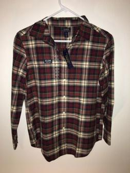 Polo Ralph lauren shirt Boys Youth Large Button Up Red Plaid