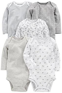 Simple Joys by Carter's Baby 5-Pack Neutral Long-Sleeve Body
