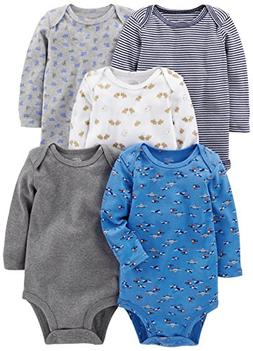 Simple Joys by Carter's Baby Boys 5-Pack Long-Sleeve Bodysui