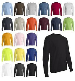 ss Hanes Men's Cotton Blank Tagless Long Sleeve T Shirt 5586