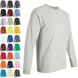 ss Gildan Ultra Cotton Mens Crewneck Long Sleeve T Shirt 240