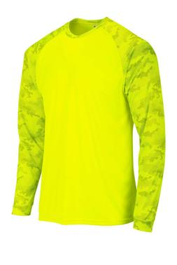 Sun Protection Long Sleeve Dri Fit Safety Neon Green shirt C