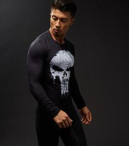 Superhero 3D T-shirt fitness shirt men's T-shirt compression