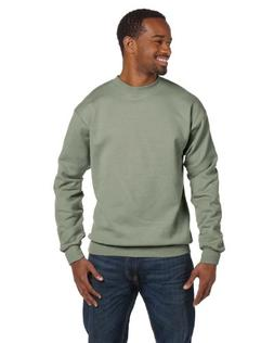 Hanes-Sweatshirt 7.8 oz. 50/50 - NON HOODED~Stonewash Green~