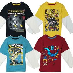 T Shirt Boys Tee Long Sleeve Fashion Graphic Tops Kids Chi C