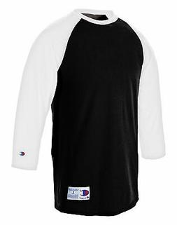 Champion T-Shirt Tee Baseball Raglan Long Sleeve Tag Free Ri