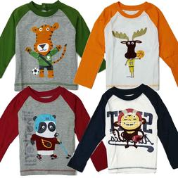 T Shirt Tee Boys Long Sleeve Toddler Baby Kids Children Tops