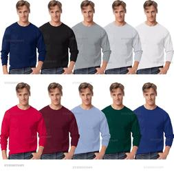 Hanes - Tagless Men's Long Sleeve T-Shirt with a Pocket - 55