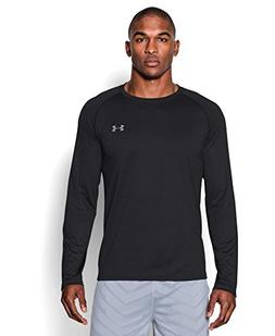 Under Armour Men's Tech Long Sleeve T-Shirt, Black/Steel, X-