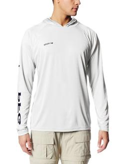 Columbia Men's Terminal Tackle Hoodie, White/Nightshade Logo