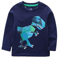 Frogwill Toddler Boys Dinosaur Long Sleeve T Shirts Top Tee