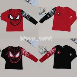 Toddler Kids Boys Long Sleeve Tops Spiderman T-Shirt Blouse