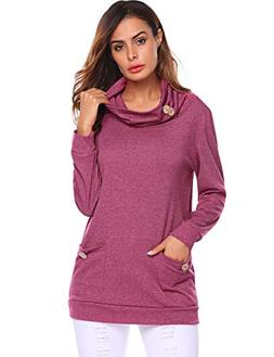 Tunic Shirts for Women to Wear with Leggings,Long Sleeve Cow