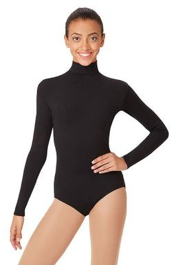 Capezio Turtleneck Long Sleeve Leotard-Red-XSmall