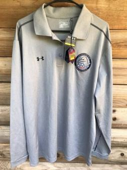 Under Armour UA ColdGear Infrared Polo Long Sleeve Gray Air